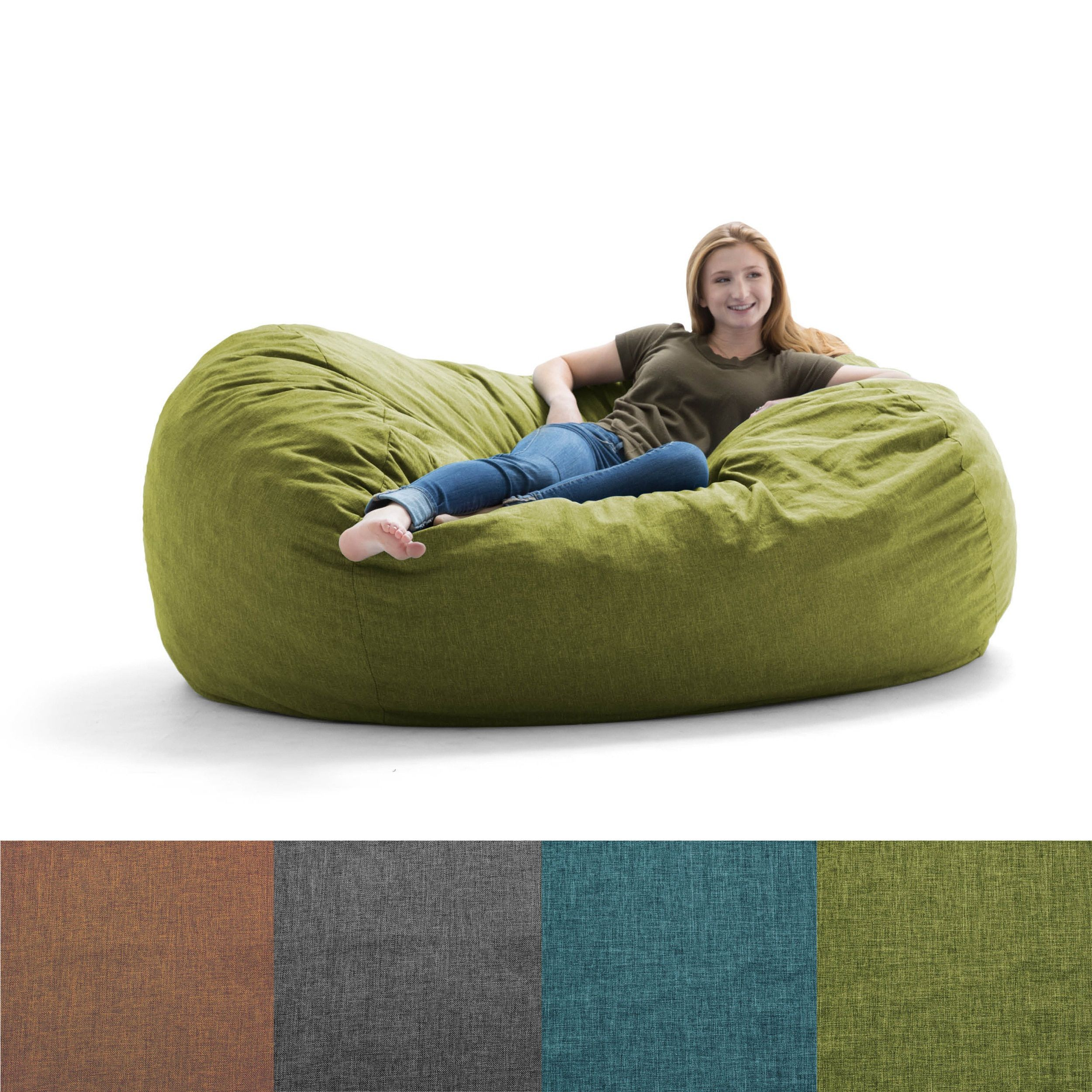 Remarkable Fufsack Big Joe Lux Solid Colore Memory Foam Bean Bag Chair Dailytribune Chair Design For Home Dailytribuneorg