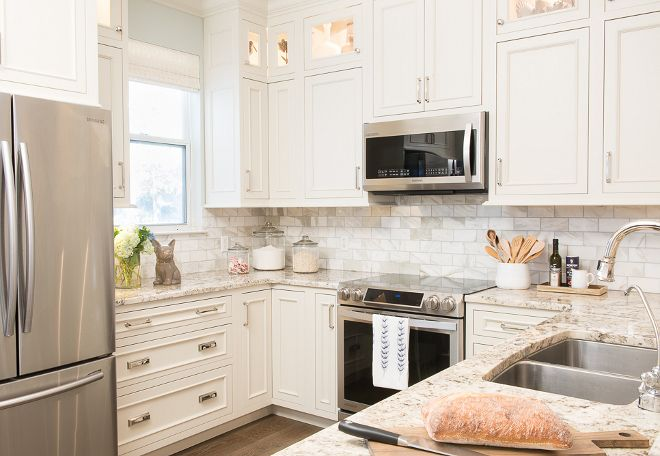 Benjamin Moore 912 Linen White Kitchen Cabinets