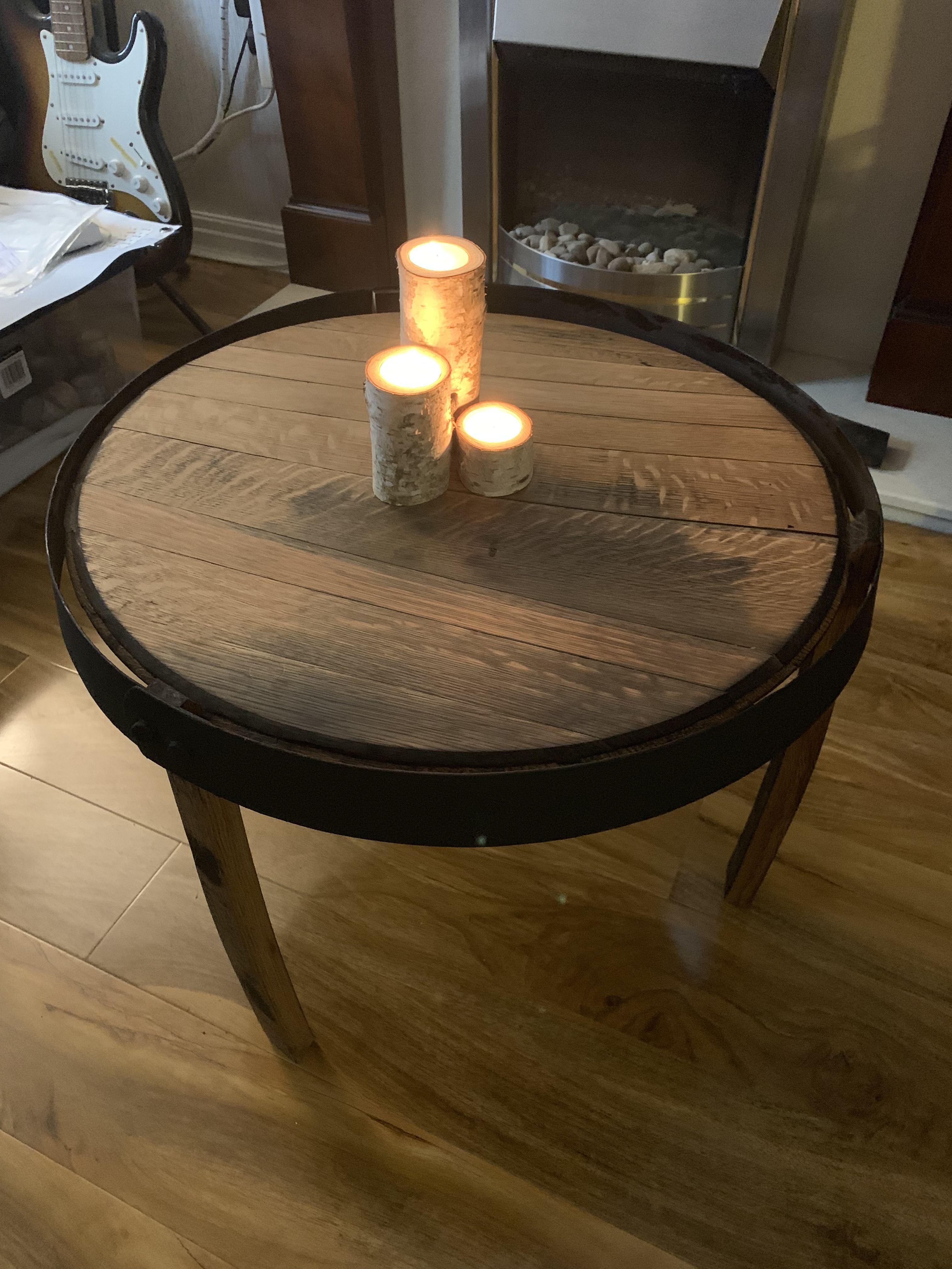 45+ Whisky barrel coffee table ideas