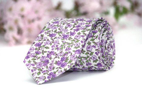 Wedding Tie Floral Necktie Lavender Purple Lilac Mens Tie Etsy In 2020 Lavender Tie Mens Floral Tie Floral Tie Groom
