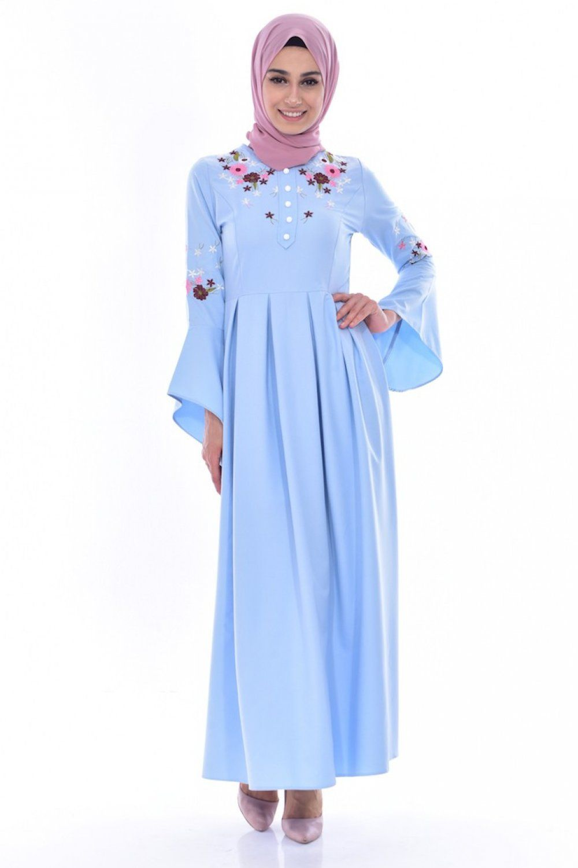 Sefamerve Nakisli Tesettur Elbise Modelleri Moda Tesettur Giyim Elbise Modelleri Elbise Moda Stilleri