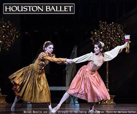 Houston Ballet S Melody Mennite And Lauren Strongin In The Taming