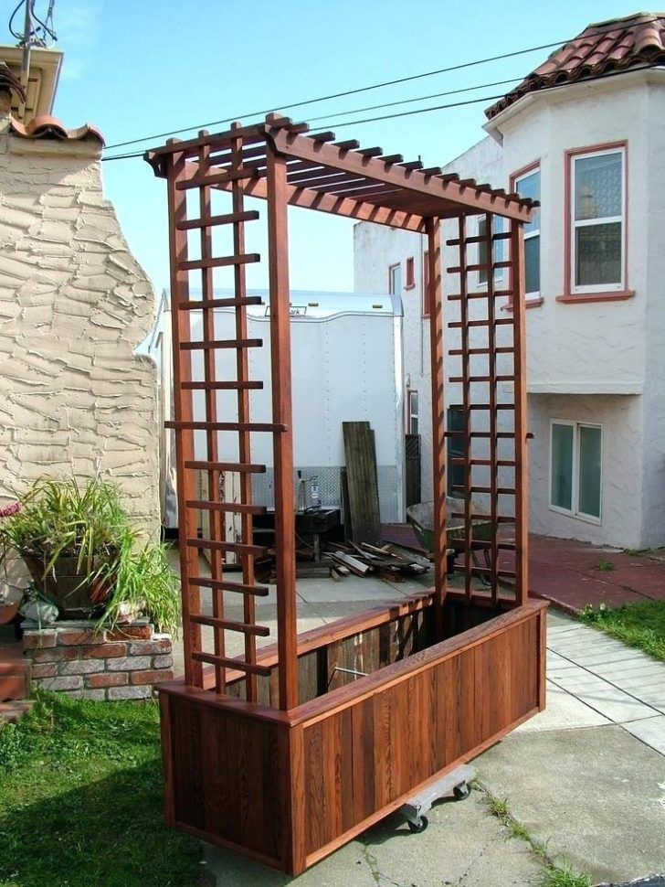 Wood Trellis And Planter Garden Wall Trellis Designs Garden Trellis Designs  Photos Garden Trellis Designs Metal