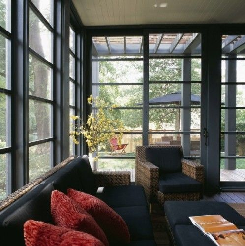 Craftsman Style Of Screened In Porch