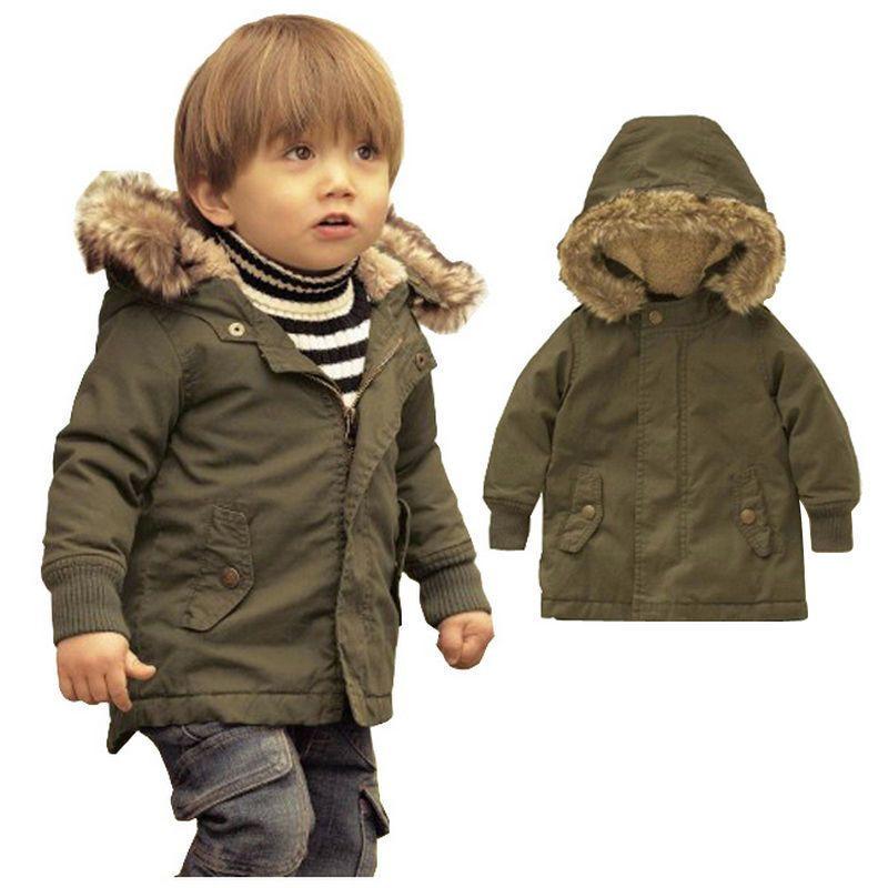 17590af8b Baby Boy Warm Winter Hooded Coat Snowsuit Horn button Zip Jacket ...