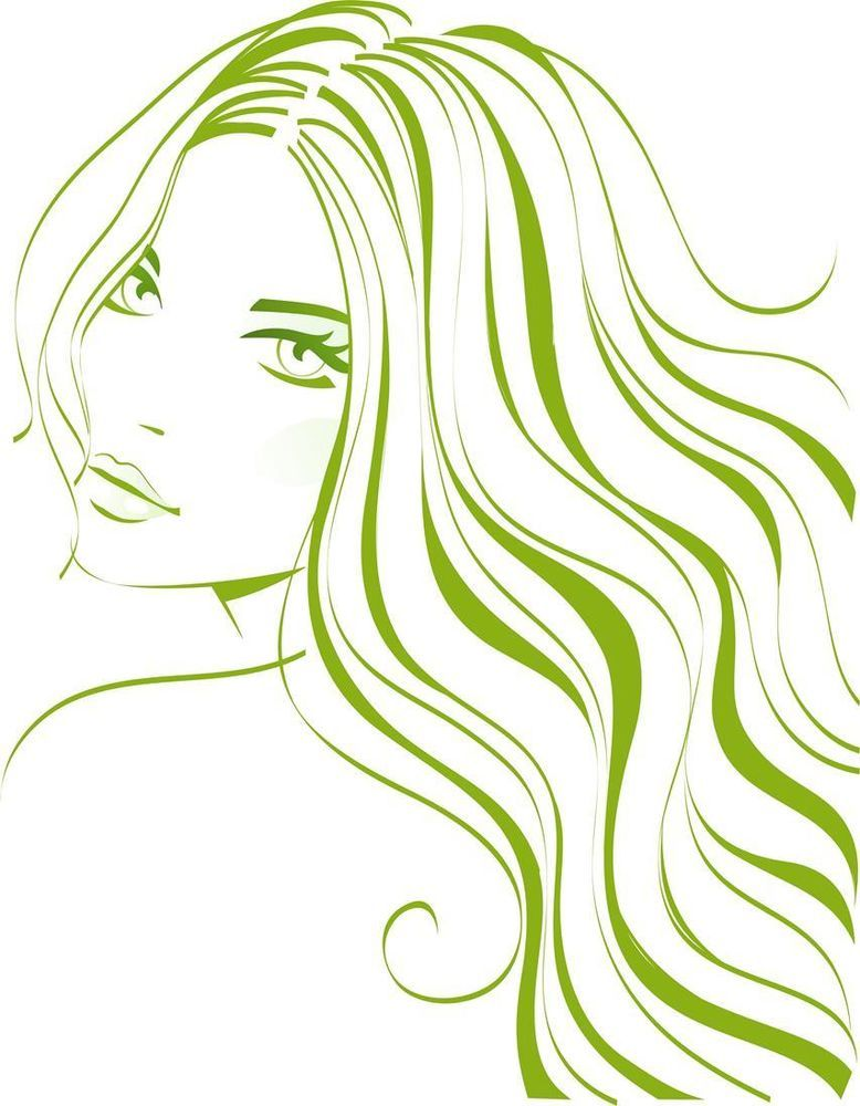 Beautiful Girl With Flowing Hair Silhouette Vinyl Wall Art Sticker Lady Woman Salon Logo Design Silhouette Art Salon Logo
