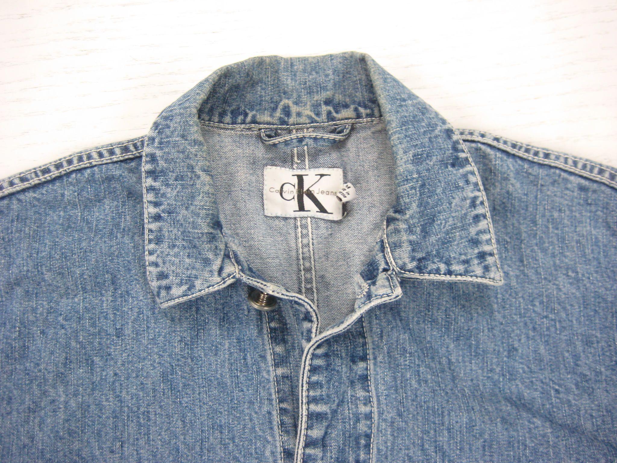 1990s Calvin Klein Denim Chore Coat Vintage Retro 90s Ck Jeans Ck Jeans Denim Chore Coat