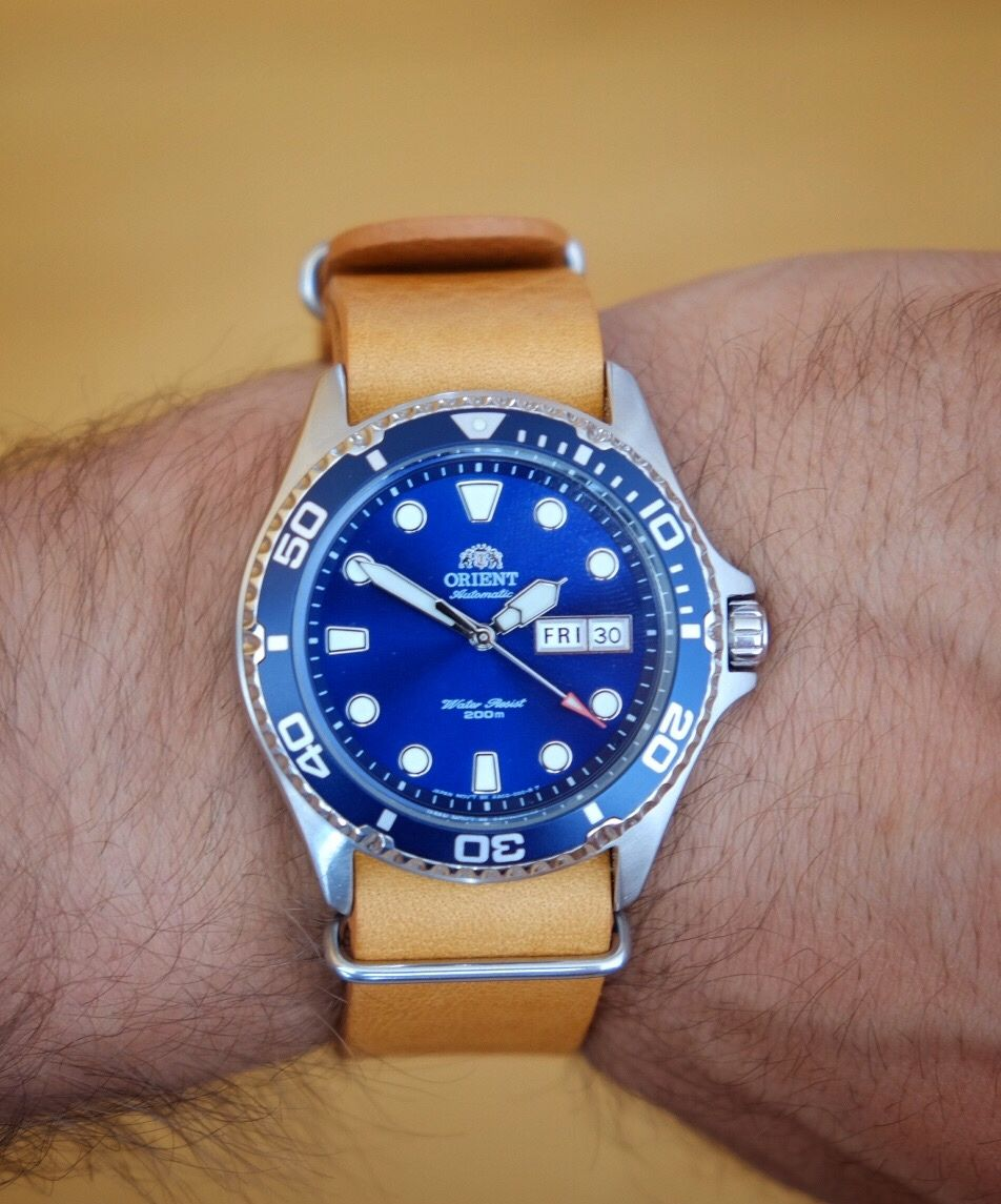 878b0b88fa Orient Ray II on Geo Nato strap   Watches - Orient   Orient watch ...