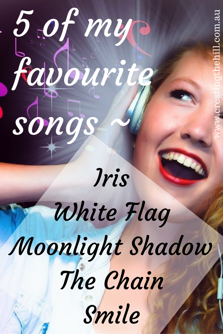 Five Things Friday ~ 5 of my Favourite Songs