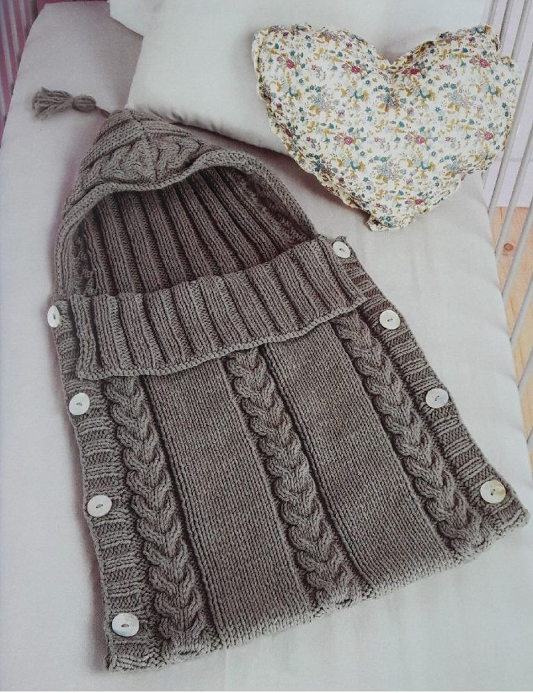 porta bebe tejido a mano para principiantes | knitting | Pinterest ...