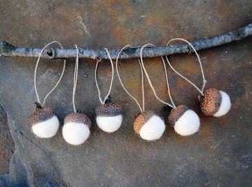 acorns and felt balls