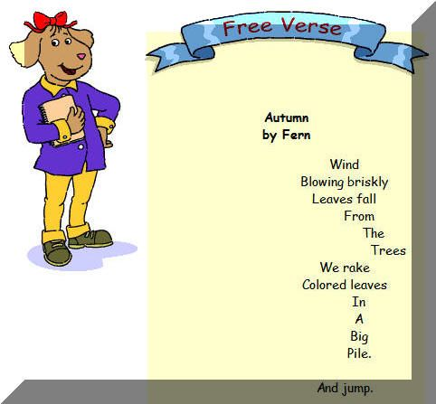 free verse poem definition for kids - Google Search | Poetic ...