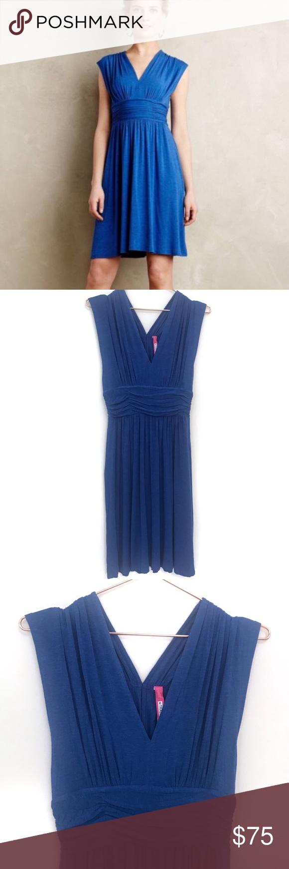 "6fa85c445b Anthropologie Plenty by Tracy Reese Niki Dress Plenty by Tracy Reese for  Anthropologie sleeveless ""Niki"" dress in blue. Hidden back zipper closure  with ..."