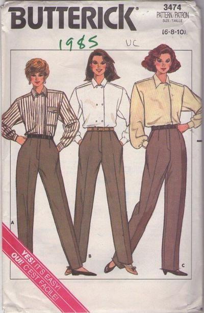 MOMSPatterns Vintage Sewing Patterns - Butterick 3474 Vintage 80\'s ...