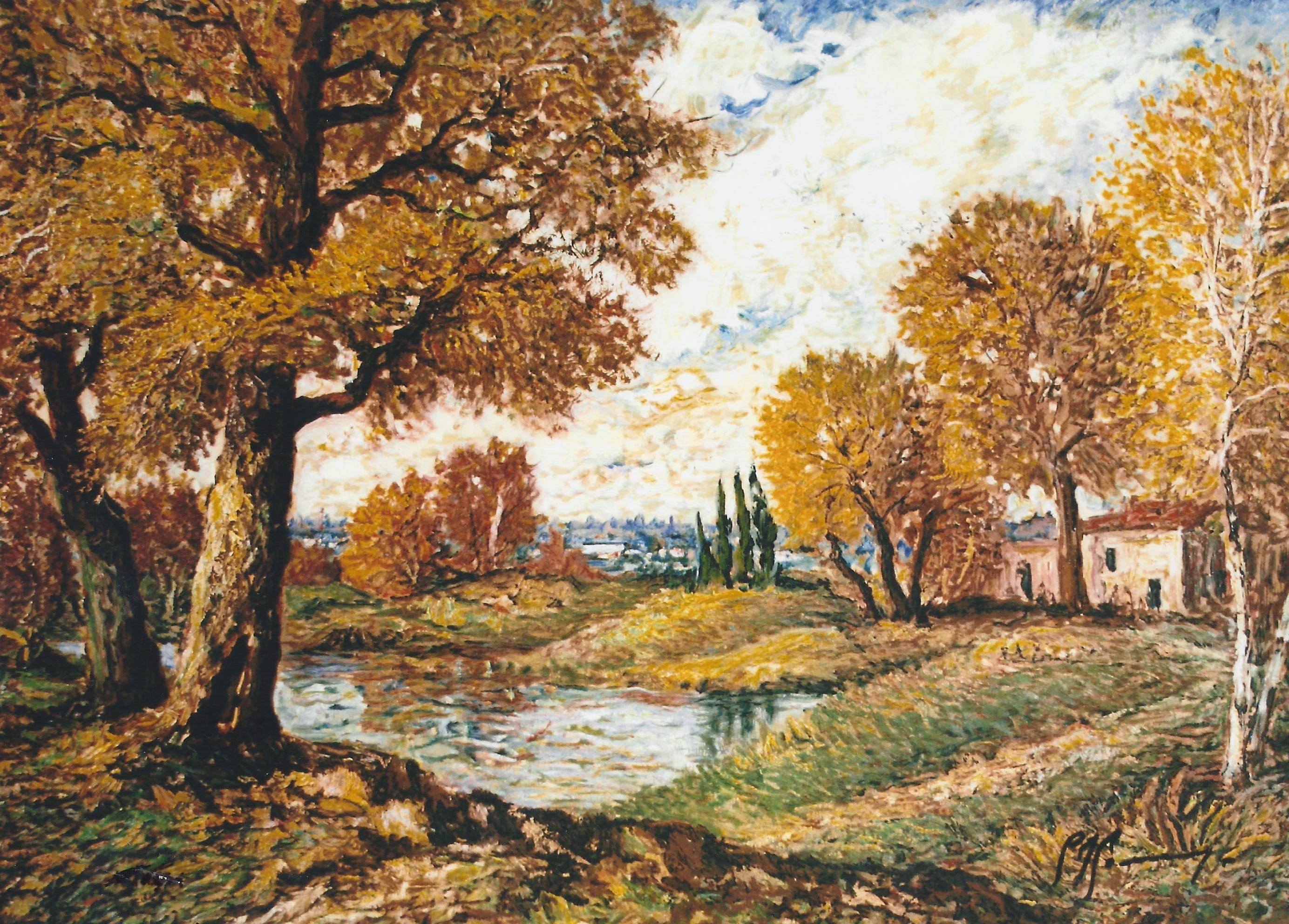 dipinti paesaggi autunnali  DIPINGERE  PAINT everything  Palet warna Palet dan Warna