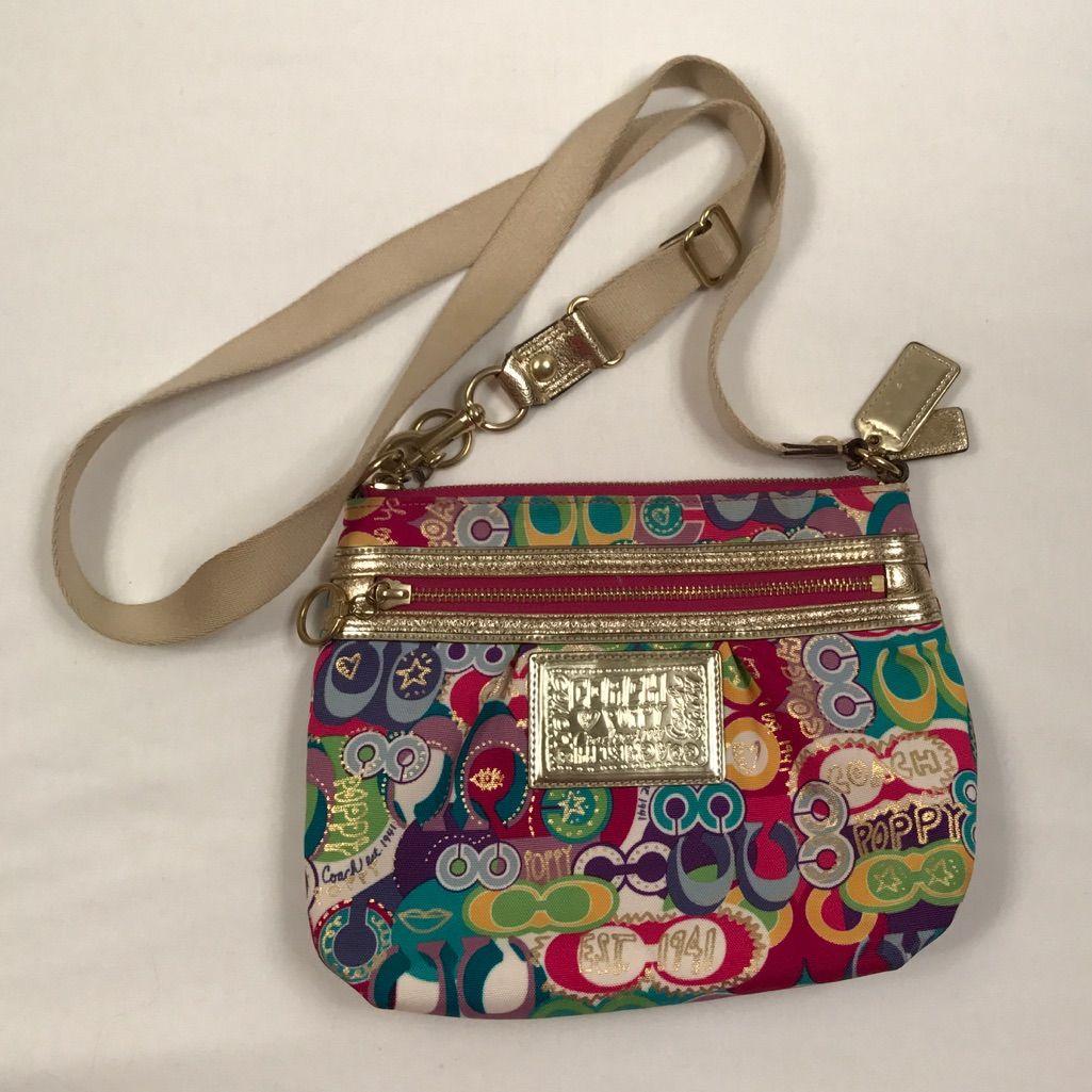 c228784fd7 Coach Poppy Crossbody Multi Color Handbag