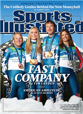 Andrew Welbrecht, Lindsey Vonn, Bode Miller, and Julie Mancuso March 2012 Sports Illustrated Cover - www.sicovers.com