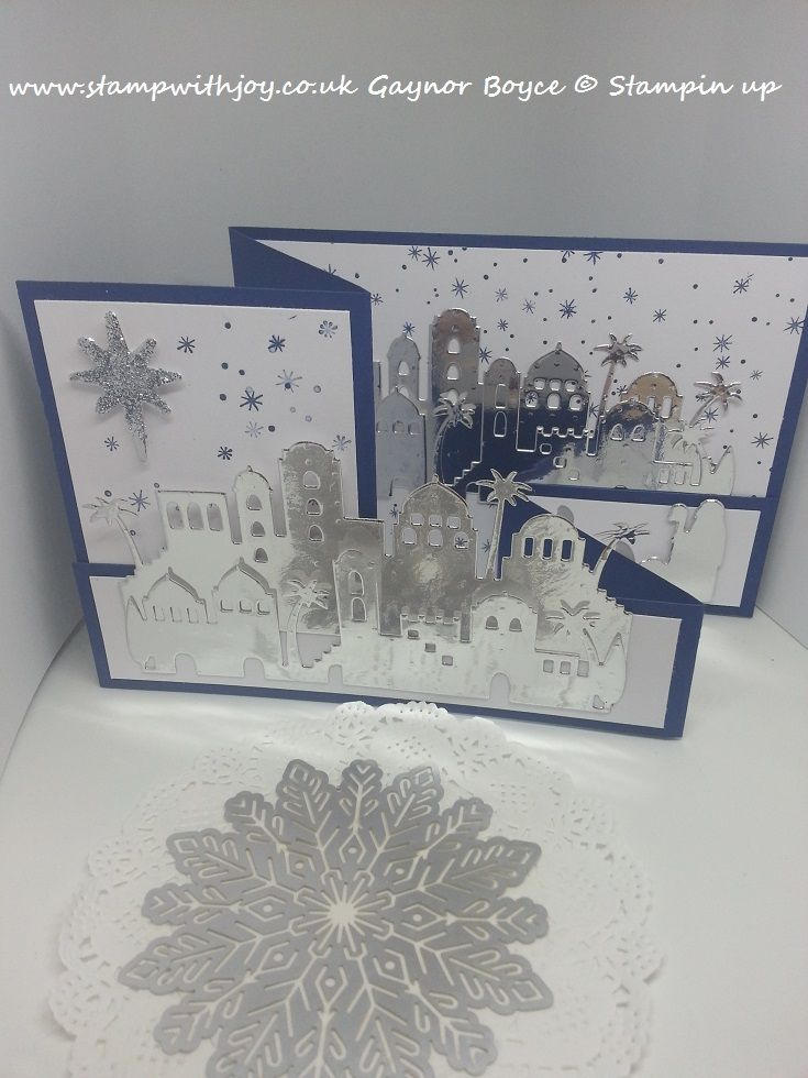 Night Of Navy Card 4 X 11 And 1 X 11 Fold Both Pieces In Half Then Fold  Back One Of The Sides To Create A Z Foldwhisper White Card Panels Are 1