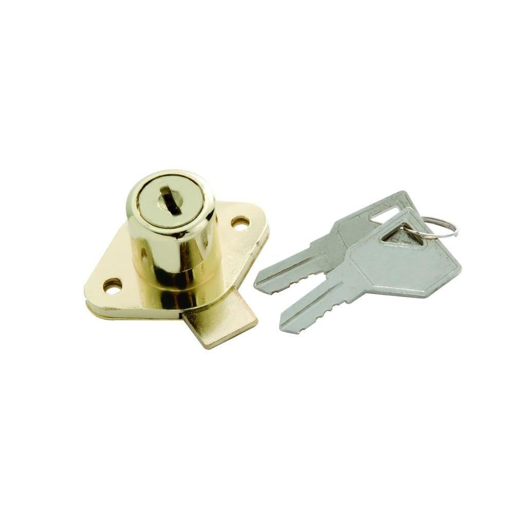 """NEW KEYED ALIKE 02067 CCL DESK DRAWER DOOR LOCK BRASS 3//4/"""" CYLINDER"""