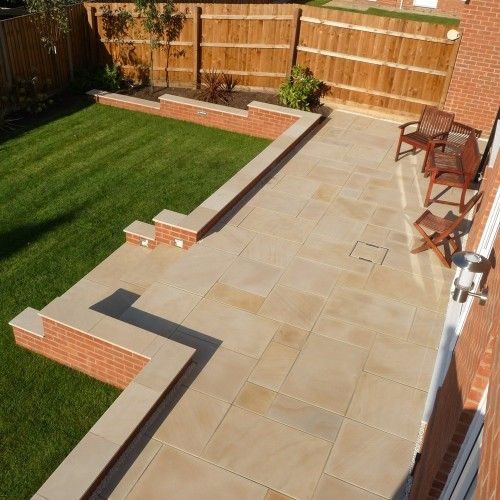 15 Tiny Outdoor Garden Ideas For The Urban Dweller: StoneFlair By Bradstone, Smooth Natural Sandstone Paving