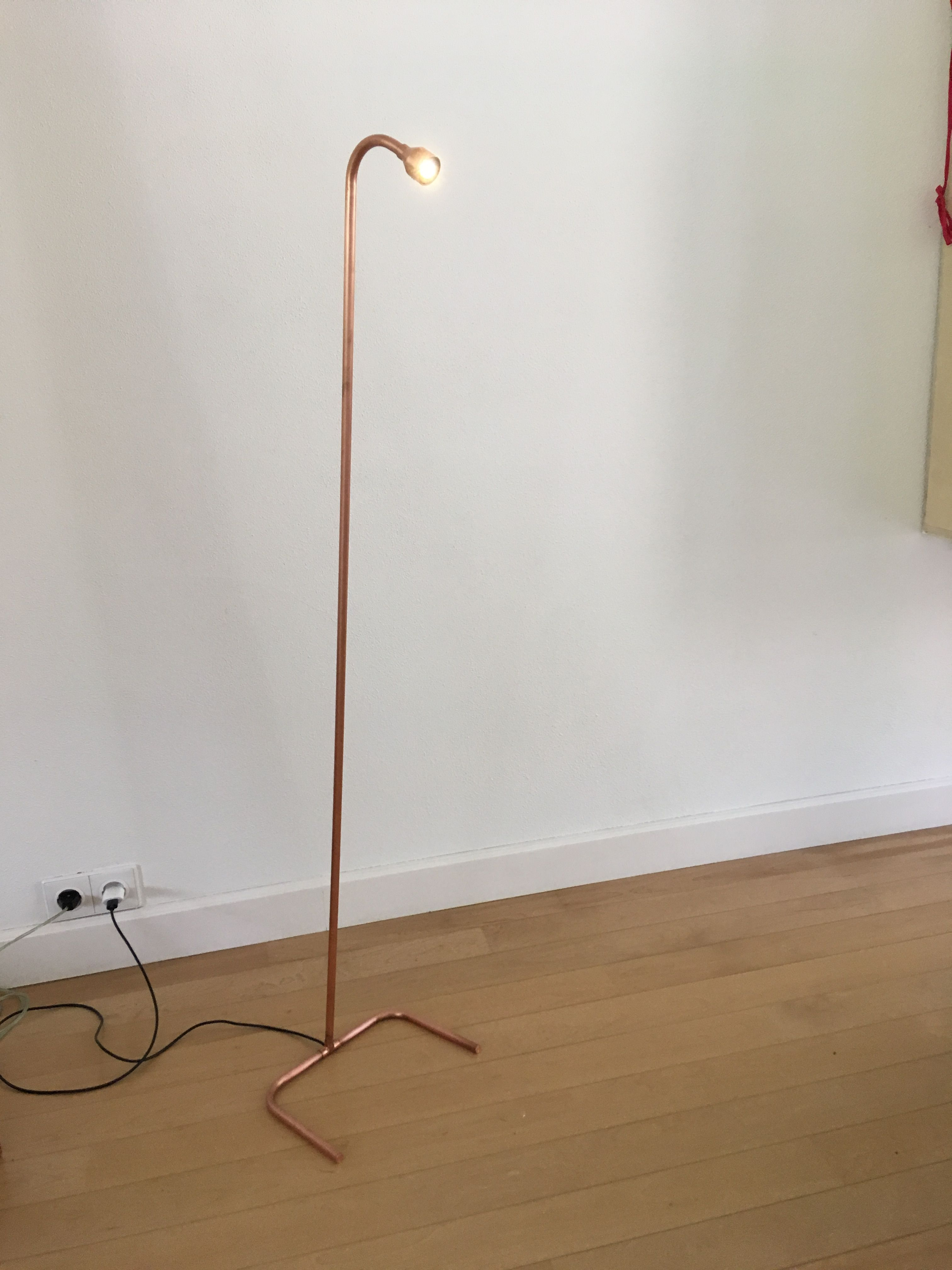 Led Lamp Made From Cupper And A Unique Led Light Source Powered From A Usb A Connection Led Verlichting