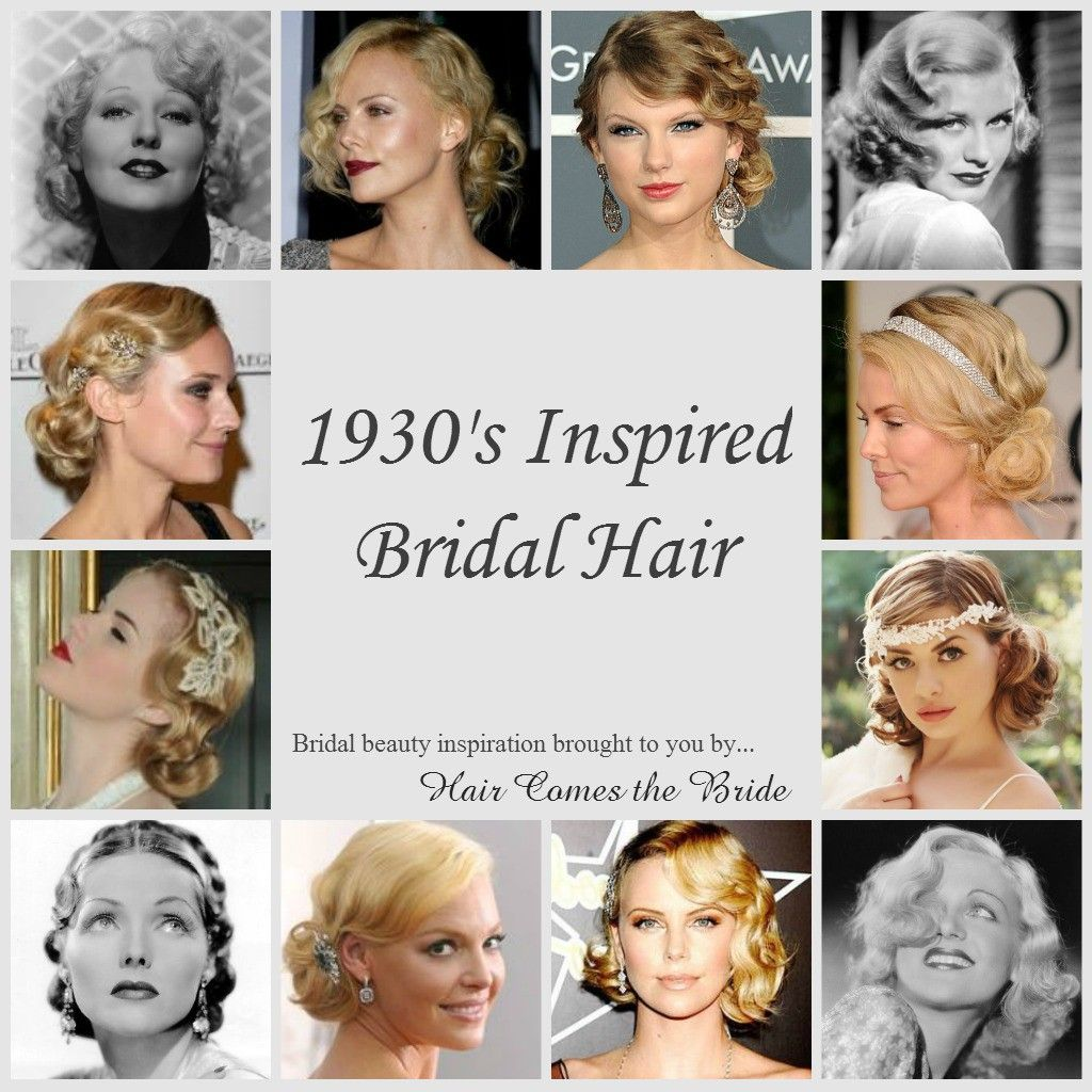 1930s inspired bridal hairstyles | bridal inspiration boards
