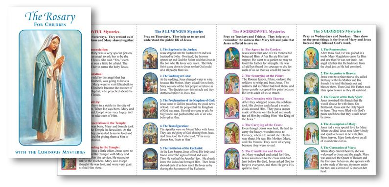 Print Mysteries Of The Rosary  Rosary For Children Folder With