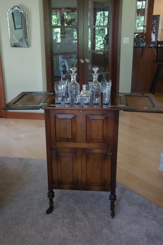 Antique Vintage Liquor Cabinet And Bar Dry By Antiquevintagefind