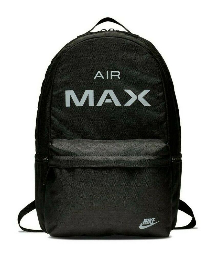 Nike Air Max Logo Backpack Black Size 26 Litre Sportswear