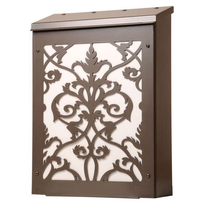 vertical wall mount mailbox. Vertical Wall Mount Mailboxes For Sale | Victorian Damask Mailbox