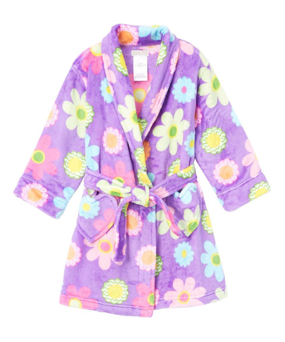 6e0df242664f Loving this Komar Kids Purple Floral Bath Robe - Girls on  zulily!   zulilyfinds