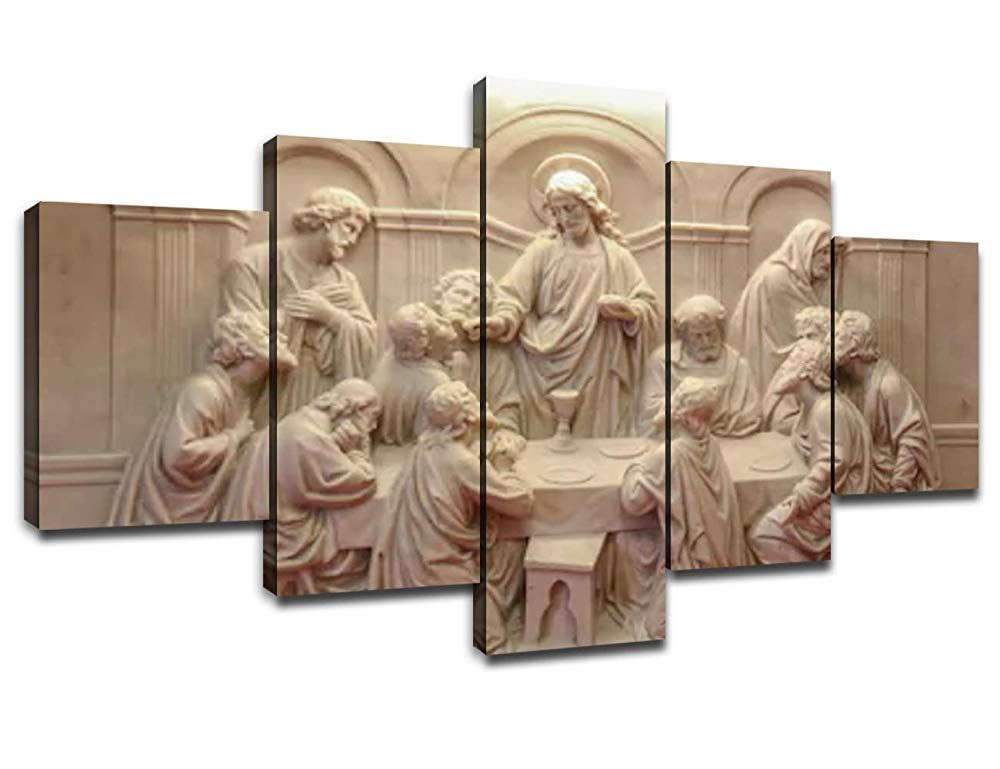 Jesus Last Supper Wall Decor For Living Room Pictures 5 Piece Canvas Prints Wall Art Christ Ult 5 Piece Canvas Art Wall Art Canvas Prints Canvas Art Wall Decor