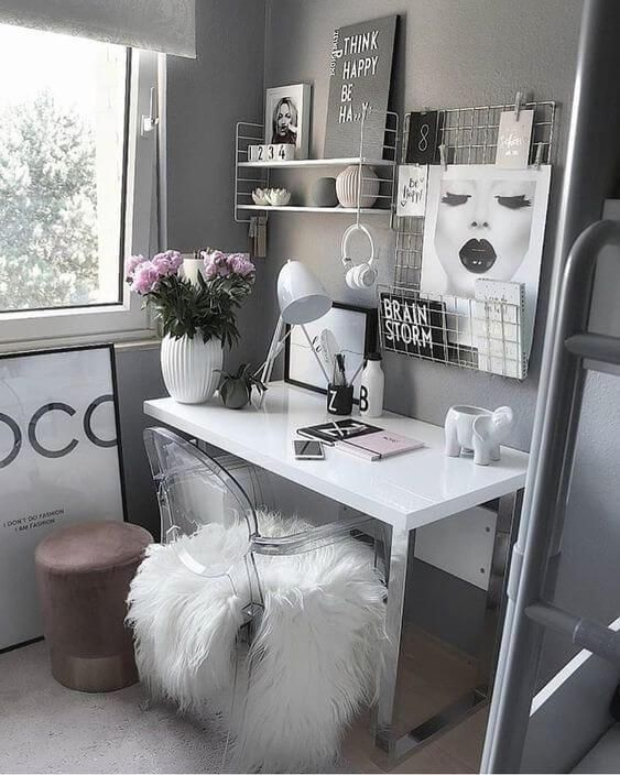 25+ Small Home Office Ideas For Men & Women (Space Saving Layout) images