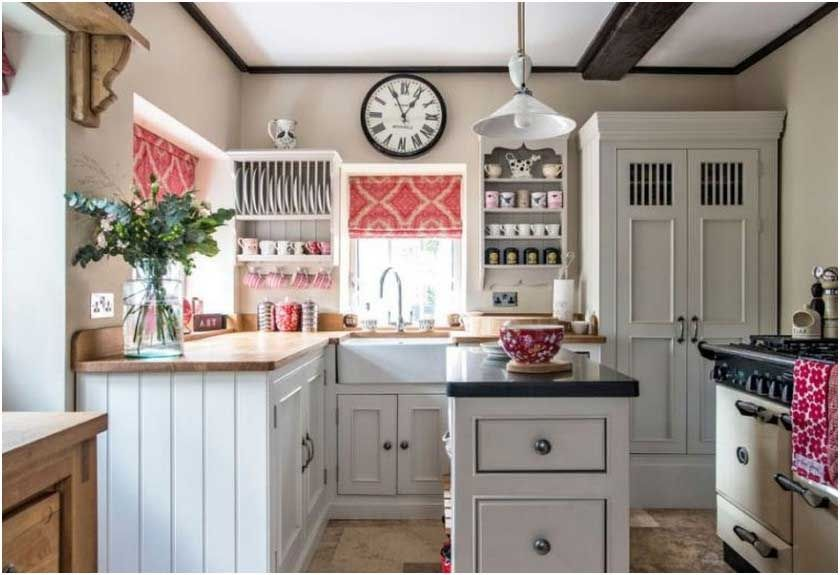 Cuisine Style Anglais Cottage Une Cuisine Style Shaker Modern Interessant Cuisin Pink Kitchen Designs Beautiful Kitchen Cabinets Modern Farmhouse Decor Kitchen