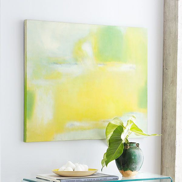 DIY Abstract Painting | Wisteria, Art decor and Wall decor