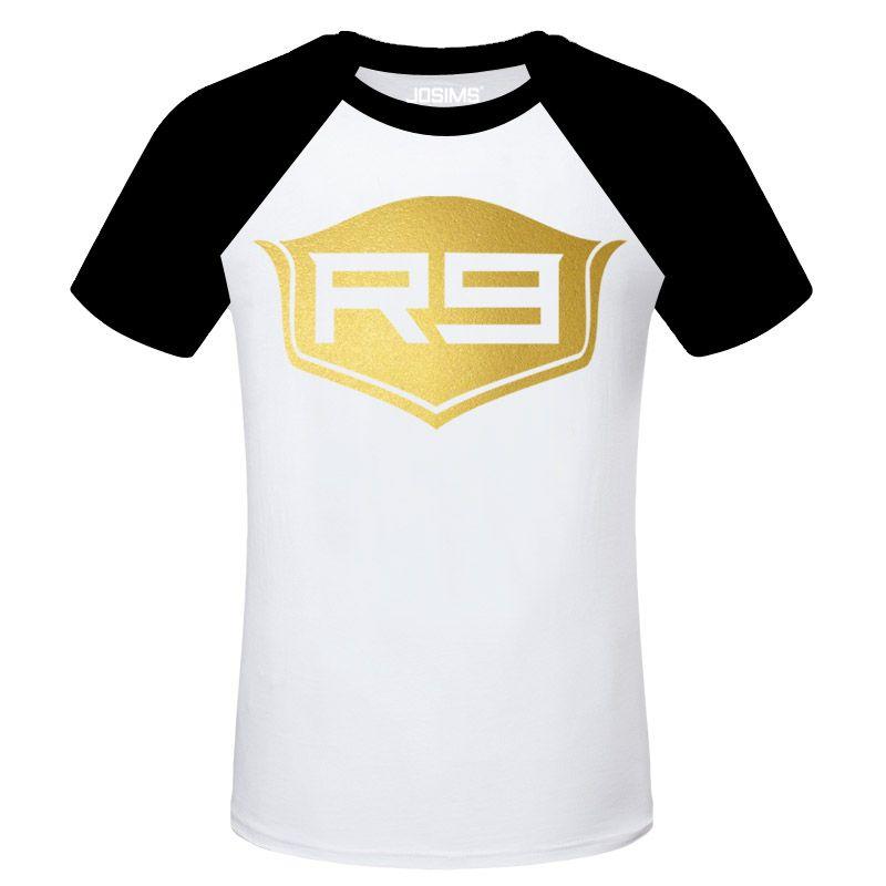 cheaper 3557b 6c0d4 Cool Ronaldo R9 Bronzing Logo White Tshirts   Soccer Stars T ...