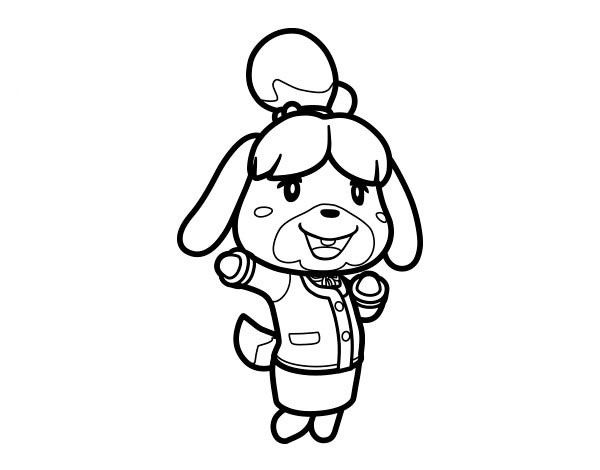 Animal crossing coloring pages 3