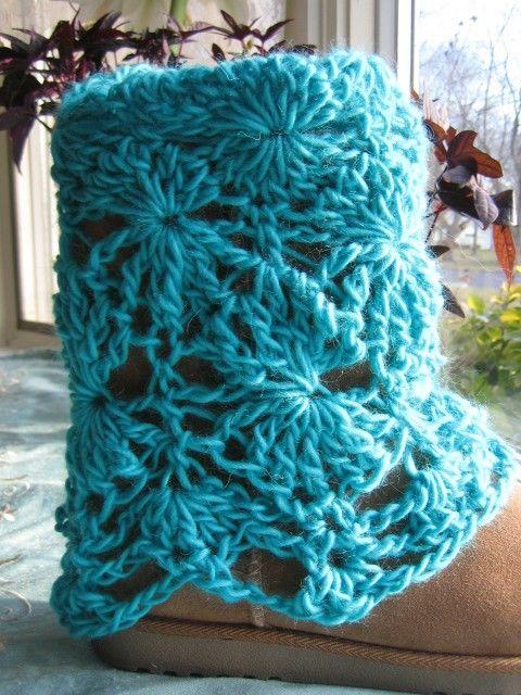 crochet boot covers! | sandalias y pantuflas a crochet | Pinterest ...