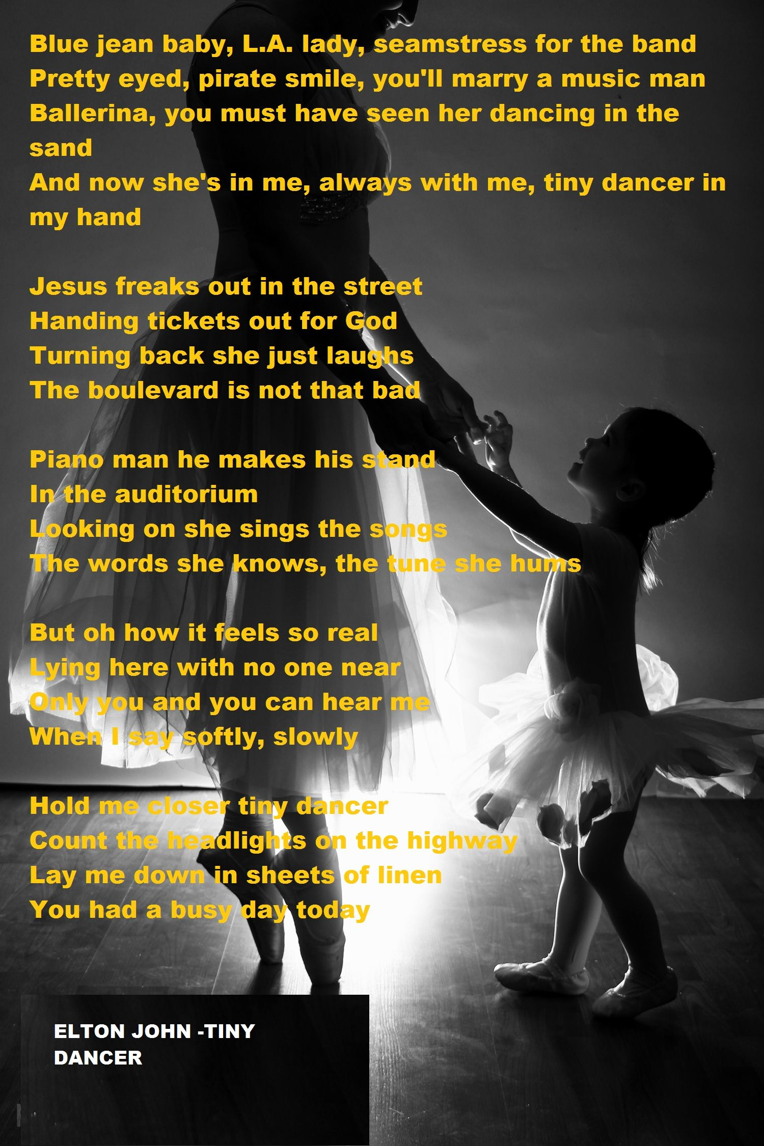 Elton John - Tiny Dancer  One of my all time favorites