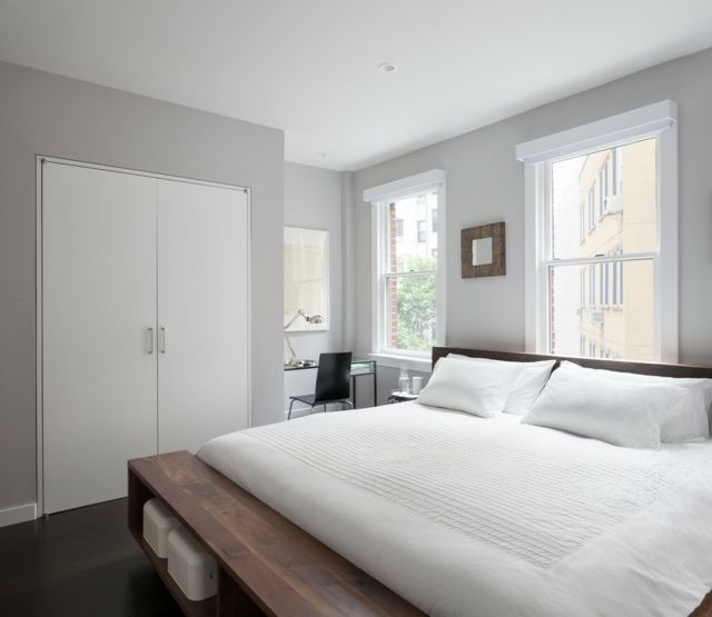 Explorez Galerie, Peinture Maison Et Plus Encore ! Schlafzimmer Hellgrau  Attraktives Doppelbett Buchenholz