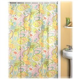 pink and yellow shower curtain. Cool Paisley Vinyl Shower Curtain By Creative Bath  For the home