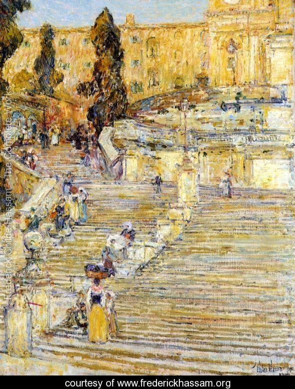 The Spanish Steps, Rome   Frederick Childe Hassam