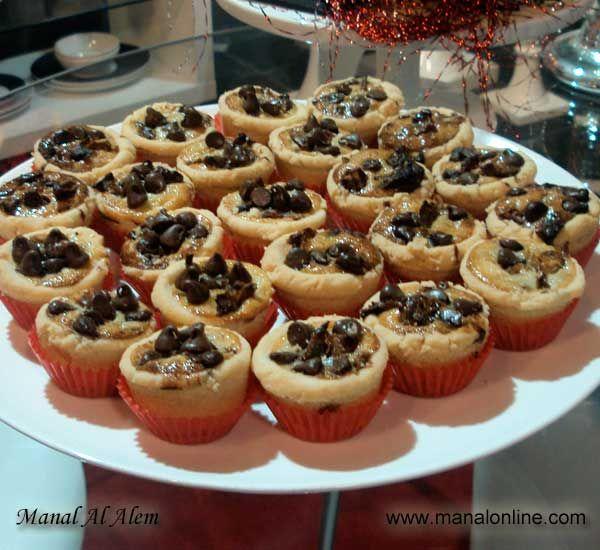 ميني تارت الشوكولاتة والتمر Recipes Desserts Food Sweets