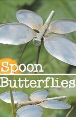 Diy Spoon Butterfly Garden Stakes Metal Garden Art Butterfly