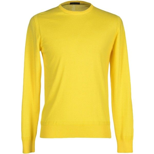 +39 Masq Sweater ($34) ❤ liked on Polyvore featuring men's fashion, men's clothing, men's sweaters, yellow, mens yellow sweater and mens cotton sweaters
