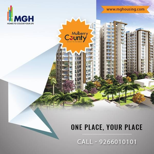 Pin by MGH Group on mulberry county sector 70 faridabad