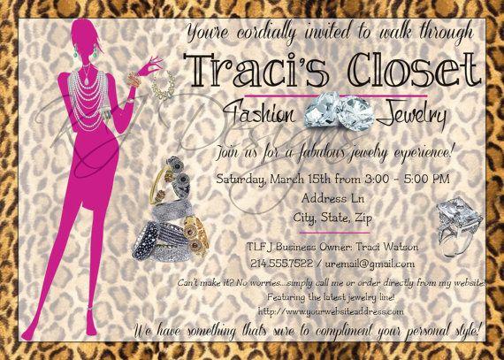 Jewelry Party Invitation DIGITAL jewelry by kjdesignsshop 800 – Jewelry Party Invite