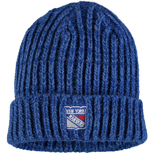 Women s New York Rangers adidas Blue Team Color Cuffed Knit Hat ❤ liked on  Polyvore featuring accessories d0b801090