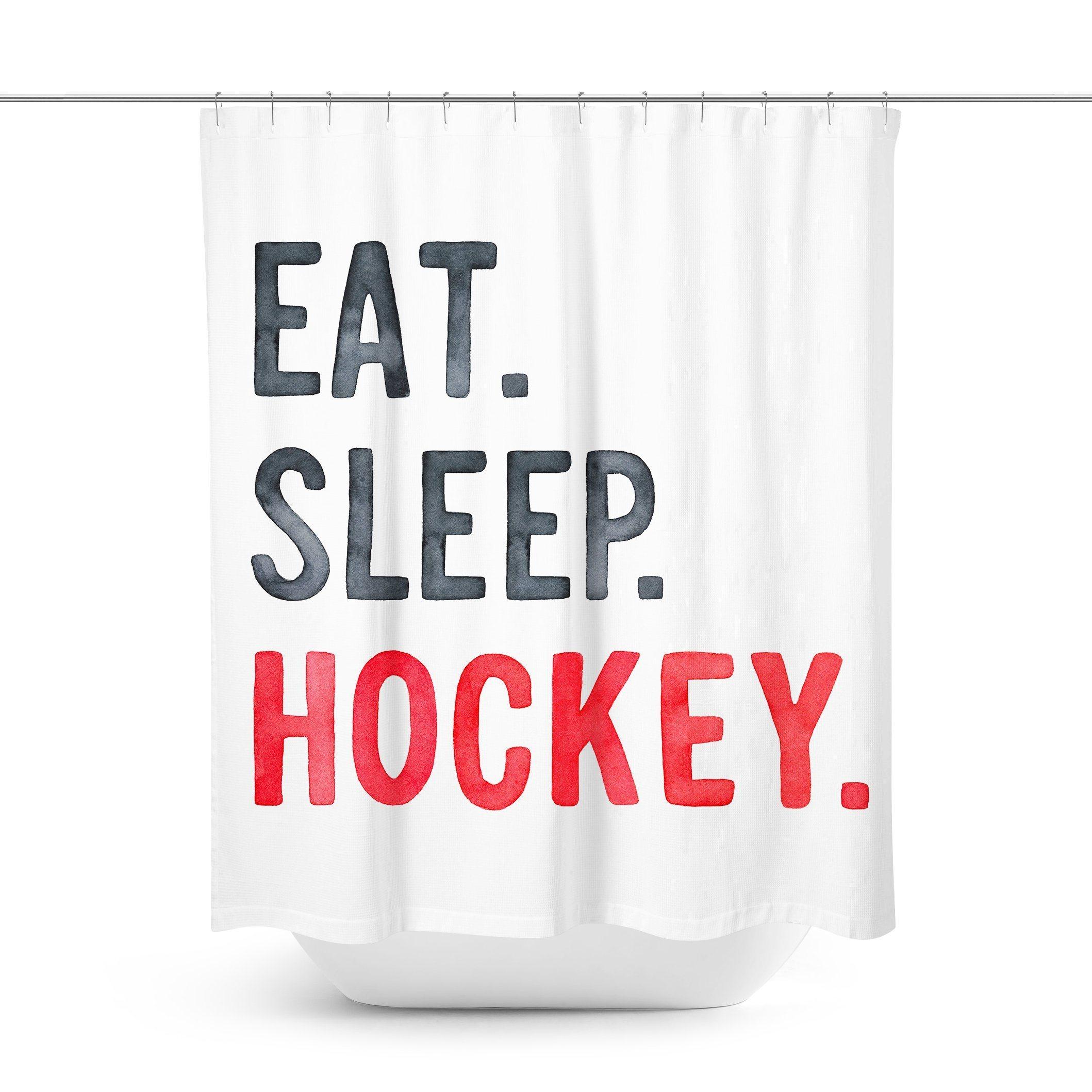 Ice Hockey Shower Curtain Shower Curtain Curtains Designer