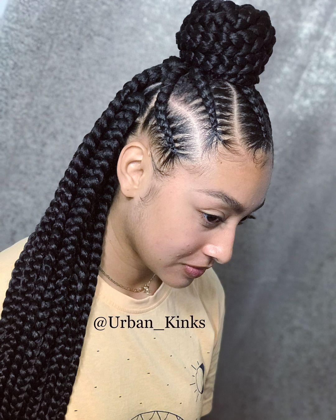 Dee on instagram ucurbanista jumbo triangle box braids w feedin